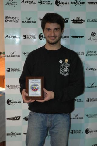 Mr Santiago Ezcurra with Award